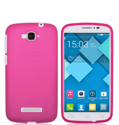 TPU maska Alcatel Pop C7: roza