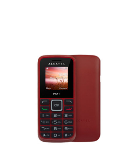 OUTLET: Alcatel OT-1010 Dual SIM: crvena