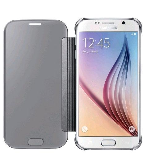Samsung Galaxy S6 Clear View Cover torbica srebrna