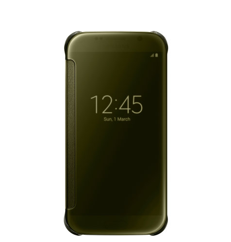 Samsung Galaxy S6 Clear View Cover torbica zlatna