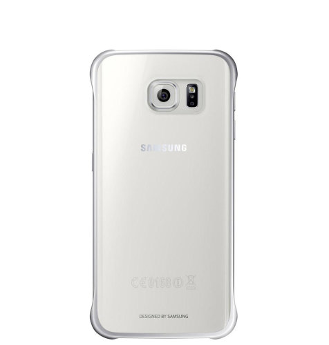 Samsung Galaxy S6 Edge Clear Cover torbica srebrna