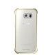 Samsung Galaxy S6 Edge Clear Cover torbica zlatna