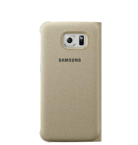 Samsung Galaxy S6 Edge Flip Wallet (Fabric) torbica zlatna
