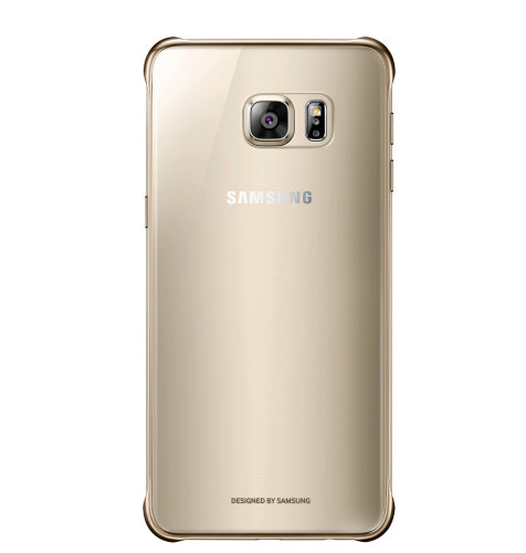 Samsung Galaxy S6 Edge plus Clear Cover torbica zlatna