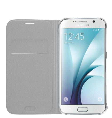 Samsung Galaxy S6 Flip Wallet (Fabric) torbica srebrna