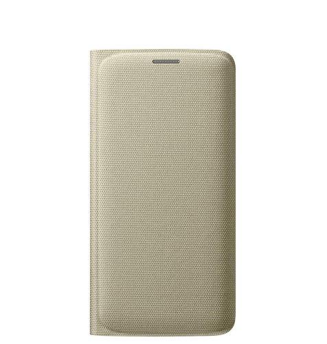 Samsung Galaxy S6 Flip Wallet (Fabric) torbica zlatna