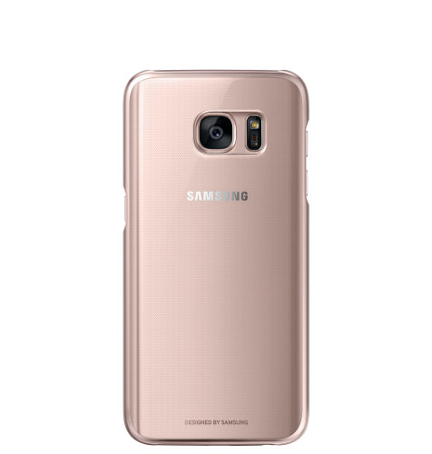 Samsung Galaxy S7 Clear Cover torbica pink zlatna