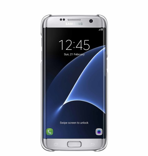 Samsung Galaxy S7 Edge Clear Cover torbica srebrna