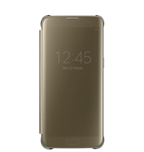 Samsung Galaxy S7 Edge Clear View Cover torbica zlatna