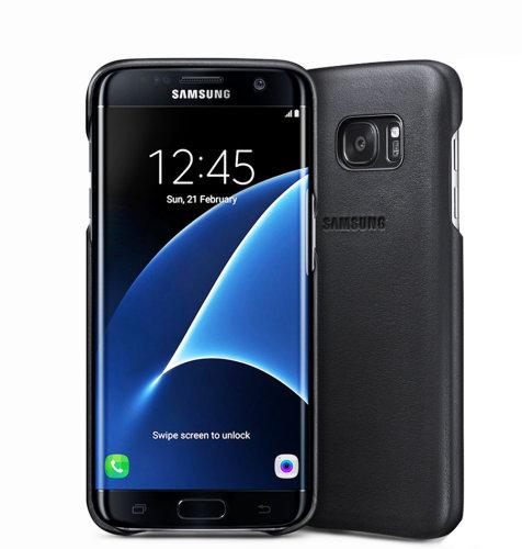 Samsung Galaxy S7 Edge kožna torbica crna