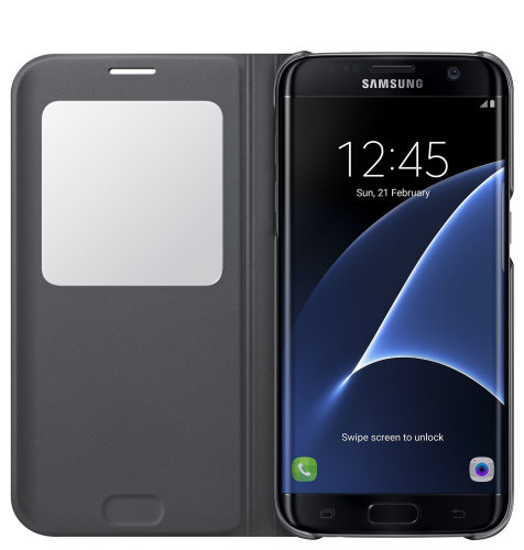 Samsung Galaxy S7 Edge S View Cover torbica crna