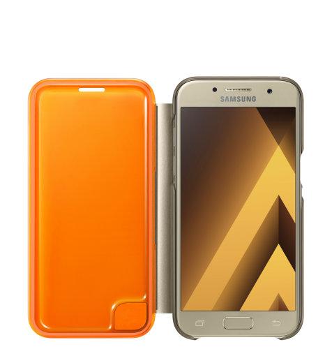 Samsung Galaxy A3 (A320) Neon Flip Cover torbica zlatna