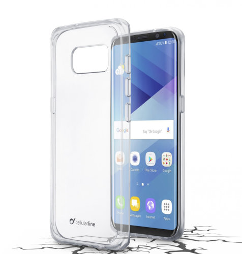 Cellular line plastična zaštita za uređaj Samsung Galaxy S8: prozirna