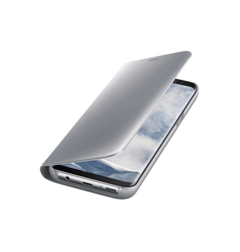 Samsung Galaxy S8 clear view standing cover torbica: srebrna