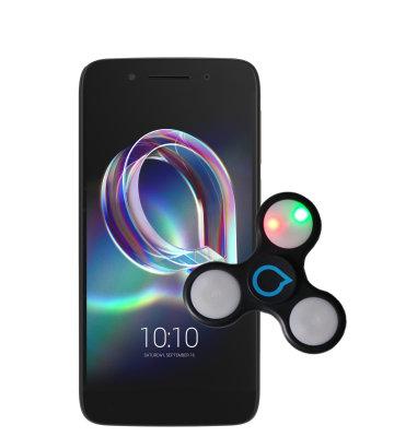 Alcatel IDOL 5 (OT-6058D): crni + svjetleći fidget spinner