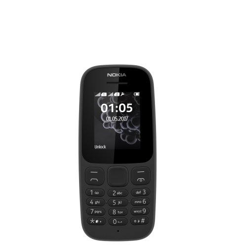 Nokia 105 (2017) Dual SIM: crna
