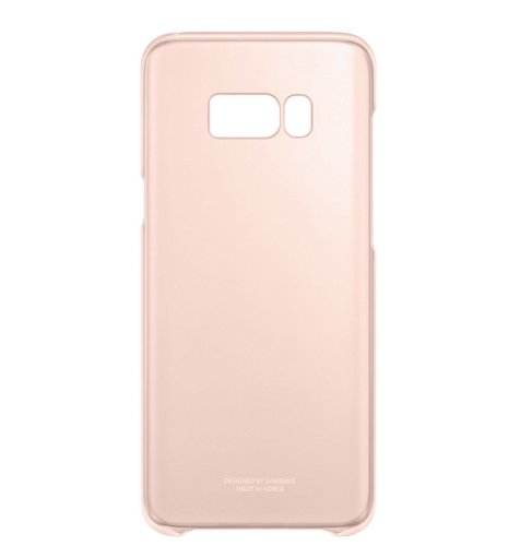 Samsung Galaxy S8 clear cover torbica: pink