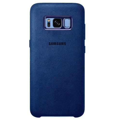 Samsung Galaxy S8+ alcantara cover torbica: plava