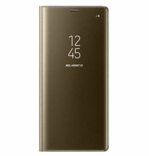 Samsung Galaxy Note 8 clear view standing cover torbica: zlatna