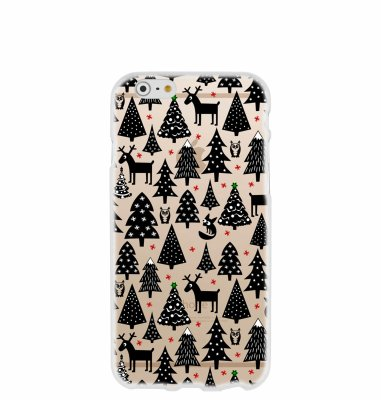 Silikonska maska s motivom božićnog drvca za iPhone 6, 6s: prozirna