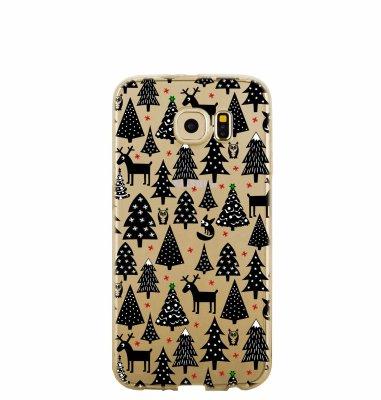 Silikonska maska s motivom božićnog drvca za Samsung S8: prozirna