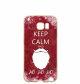 """Silikonska maska""""Keep calm"""" za Samsung J3 2017: prozirna"""