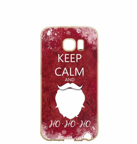 """Silikonska maska """"Keep calm"""" za Samsung J7 2017: prozirna"""