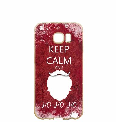 "Silikonska maska ""Keep calm"" za Huawei P8/P9 lite 2017: prozirna"
