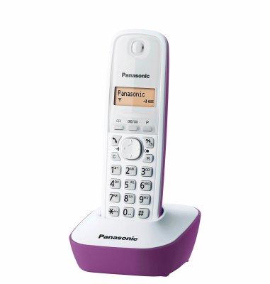 Panasonic dect KX-TG 1611FXF: ljubičasti