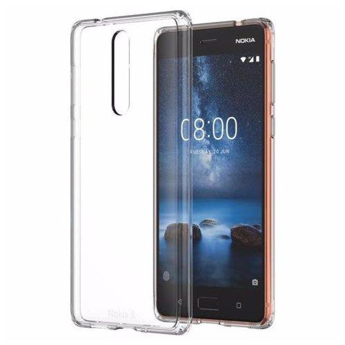 Silikonska maska hybrid crystal za Nokia 8: prozirna