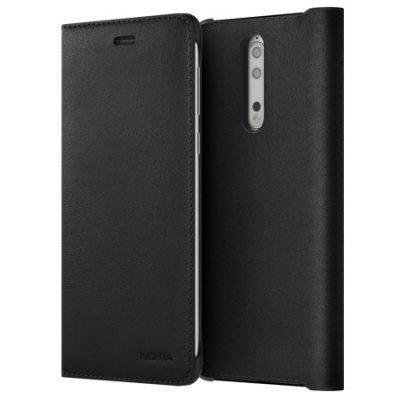 Preklopna maska za Nokia 8: crna