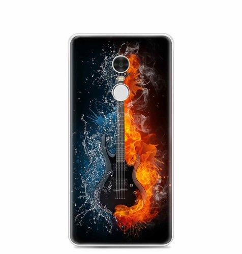 Silikonska maska za Xiaomi Redmi Note 4: motiv gitare