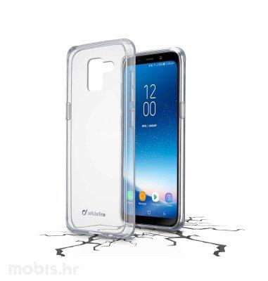 Cellular line plastična zaštita za uređaj Samsung Galaxy A8 2018: prozirna