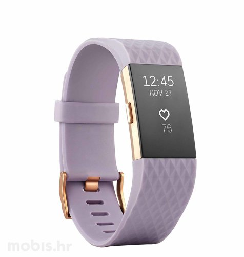 Fitbit Charge 2 specijalna boja S: rozo zlatna