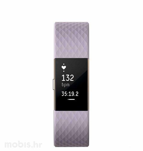 Fitbit Charge 2 specijalna boja L: rozo zlatna
