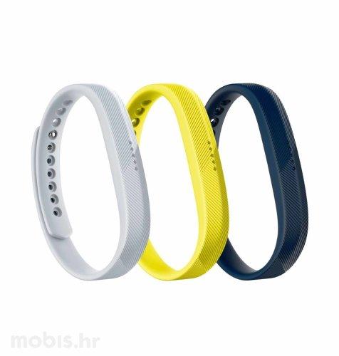 Fitbit Flex 2 narukvica sport L (3 komada): siva, žuta, plava