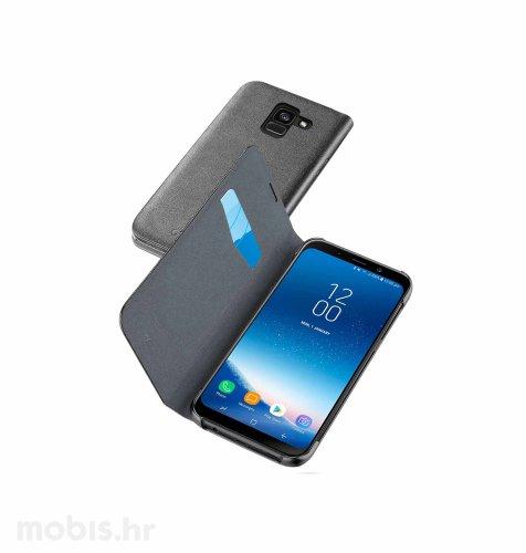 Preklopna maskica za uređaj Samsung A8 2018: crna