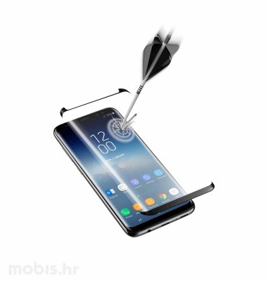 Cellular line zaštitno staklo za Samsung Galaxy S9: crna