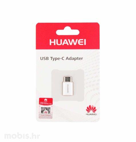 Huawei adapter Tip C na Micro USB: bijeli