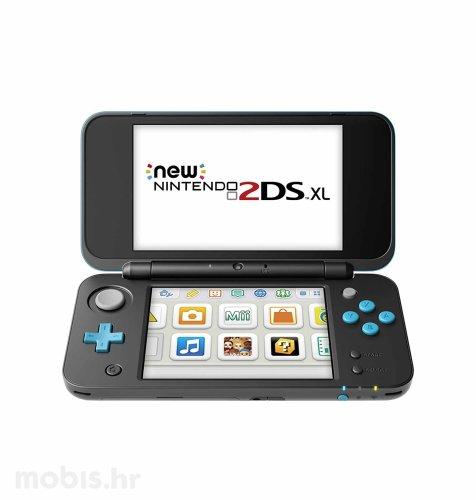 Nintendo 2DS XL konzola: crna i tirkizna