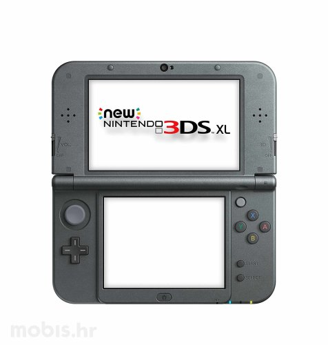 Nintendo New 3DS XL konzola: metalno crna