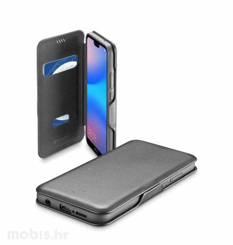 Cellular line preklopna kožna maskica za Huawei P20 lite: crna