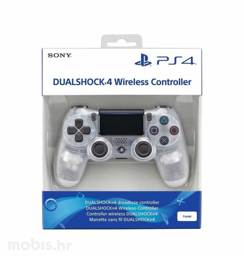 PS4 Dualshock Controller v2: prozirno bijeli