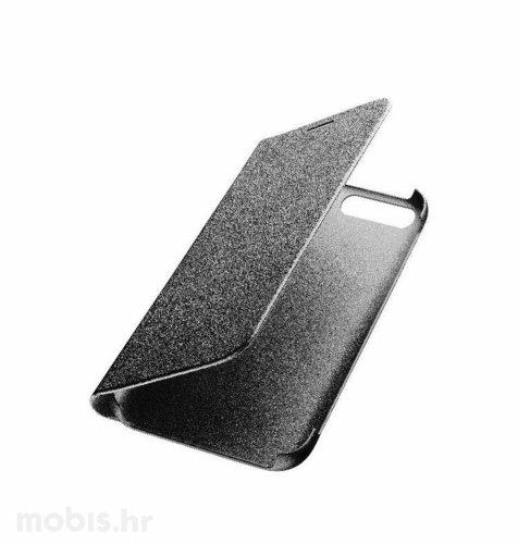 Preklopna kožna maskica za Huawei Y6 2018: crna
