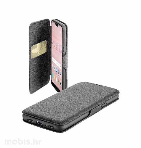 Cellular line preklopna kožna maskica za Huawei P20 Pro: crna