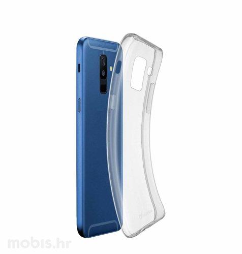 Silikonska zaštita za uređaj Samsung Galaxy A6+ 2018: prozirna