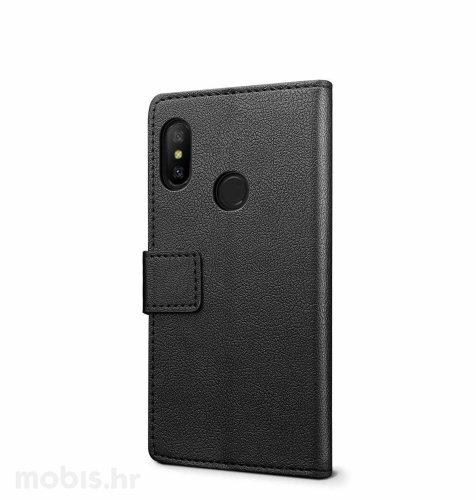Preklopna maska za Xiaomi Redmi 6: crna