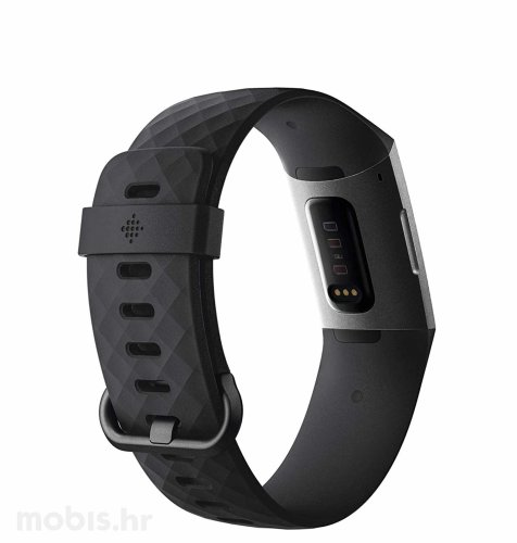 Fitbit Charge 3: sivo crna