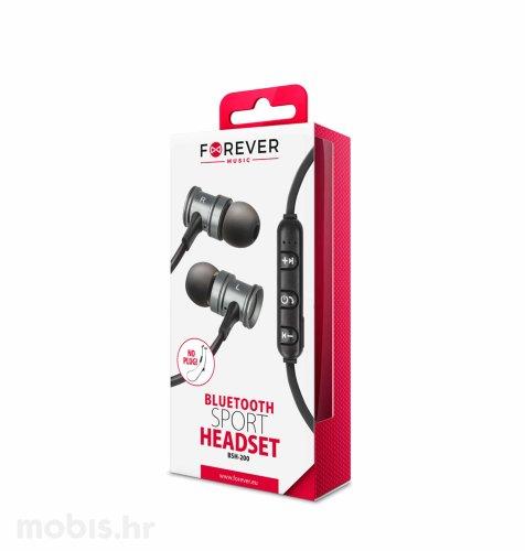 Bluetooth slušalice Forever BSH-200: srebrne