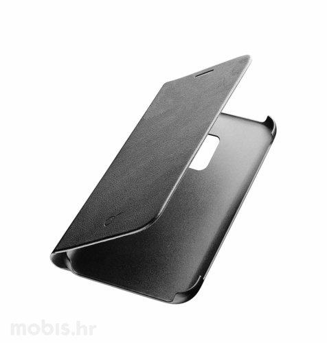 Preklopna kožna maskica za  Samsung Galaxy J6+ 2018: crna